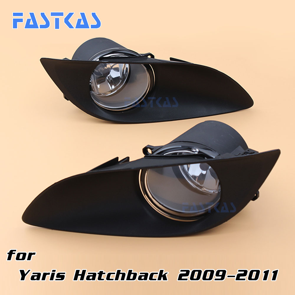 12v 55w Car Fog Light Assembly for Toyota Yaris Hatchback 2009-2011 Left and Right Fog Light Lamp with Switch Harness Fog Light 12v 55w car fog light assembly for ford focus hatchback 2009 2010 2011 front fog light lamp with harness relay fog light