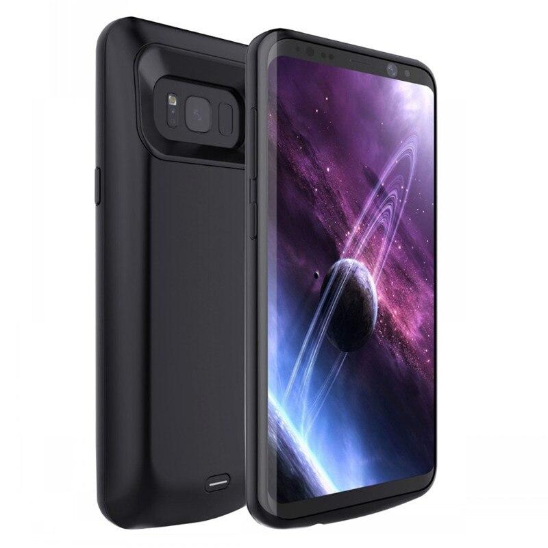 bilder für Für Samsung galaxy S8 Batterie Fall Wiederaufladbare Power Backup Externes Ladegerät Shell Cover 5000 mah