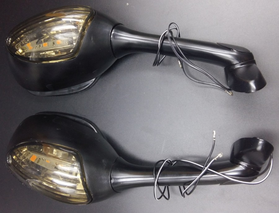 Integrated Turn Signals LED Mirrors for 2006-2010 Suzuki GSXR 600 750 1000 GSX-R pair black turn signal mirrors for 2005 2007 suzuki gsxr gsx r 600 750 1000 2006 k5