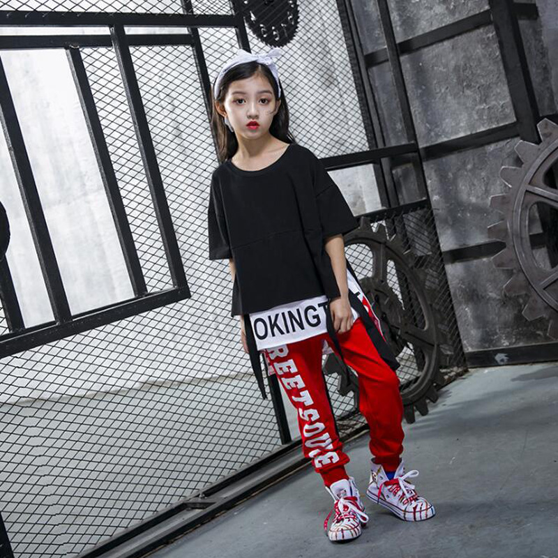 Kids Cool Hip Hop Ballroom Clothing wear Girls Boys Sweatshirt Tops Jogger Pants Jazz Dance Costumes Stage Party Dancing Outfits