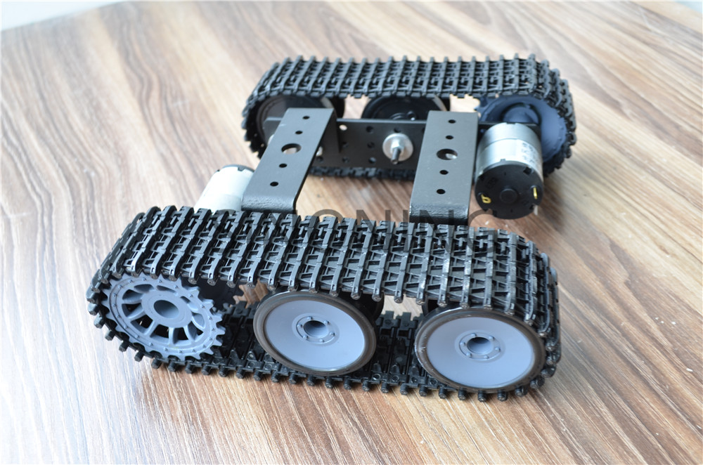 Aluminum alloy tank robot chassis 12V SN5000 tracked car DIY arduino new aluminum alloy chassis robot car 2wd