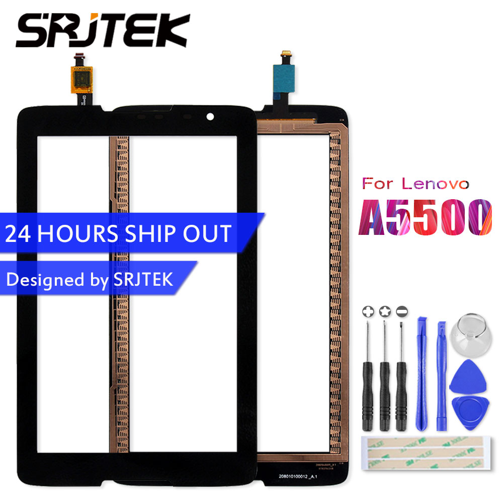 SRJTEK For Lenovo IdeaTab A8-50 A5500 A5500F A5500-H A5500-HV Touch Screen Panel Digitizer Sensor Glass Tablet Replacement Parts black touch screen sensor glass digitizer for lenovo ideatab a8 50 a5500 a5500f a5500 h a5500 hv repair replacement 100