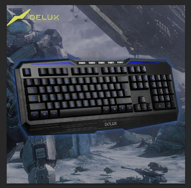 Delux KM9025U Gaming Keyboard Russian+English Version Wired 3 colors ...