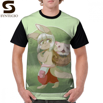 Made In Abyss T Shirt Nanachi And Mitty T-Shirt Print Polyester Graphic Tee Shirt Oversized Man Fashion Awesome Short-Sleeve Tshirt