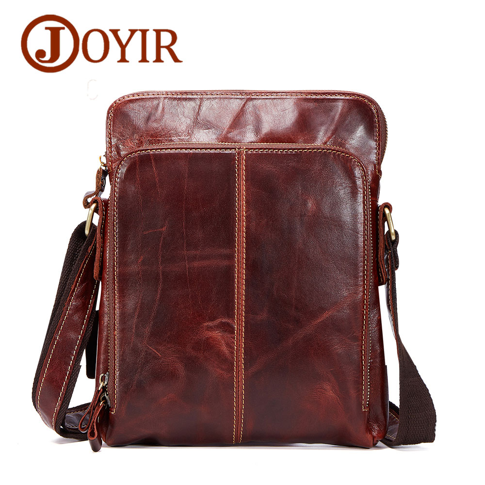 JOYIR Genuine Leather Men Bags Male Cowhide Flap Bag Shoulder Crossbody Bags Handbags Messenger Small Men Leather Bag 8674 cowhide messenger small flap casual handbags men leather bag genuine leather bag top handle men bags male shoulder crossbody ba