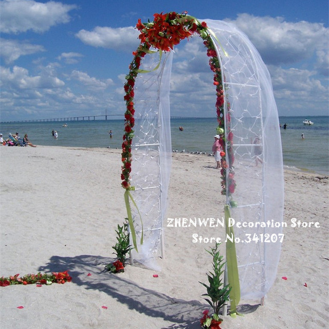 Wedding Decoration Arch White Wedding Metal Arch 7.5 FT For Party ...