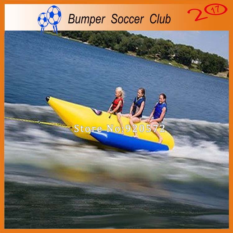 Free shipping ! Free Pump ! 8 person Inflatable water games banana boat inflatable fly fish for sale 3 8 person inflatable towable water sports inflatable single tube banana boat