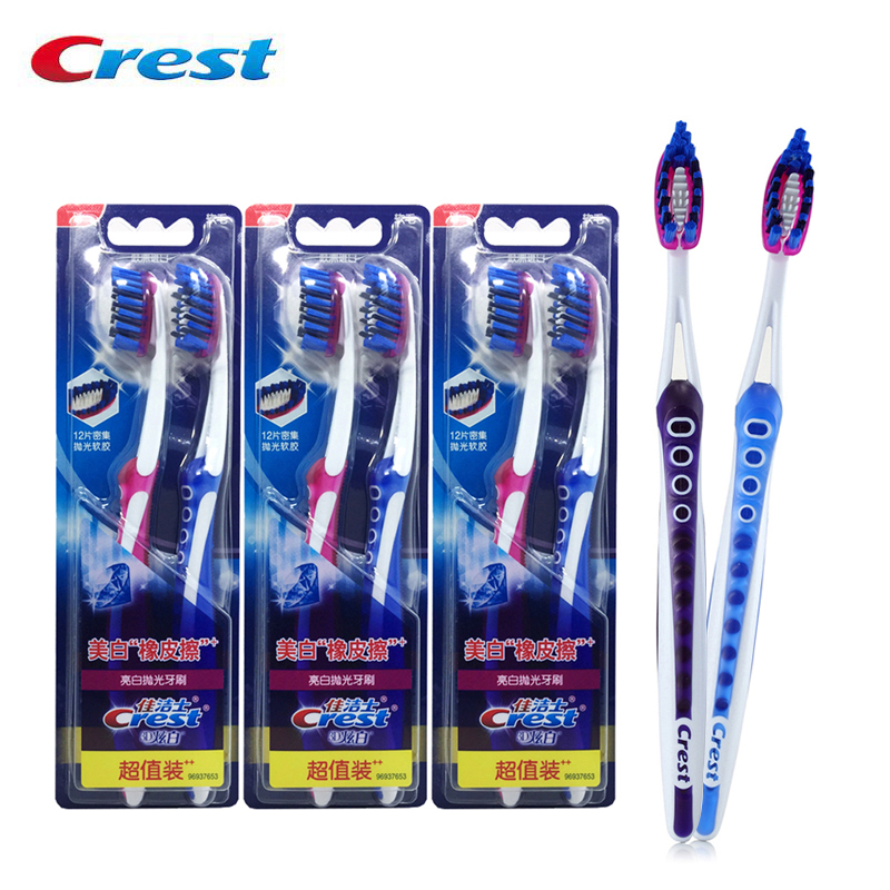Crest Toothbrush Bright White Polishing Deep Clean Soft Bristles Gum Care Original Packaging from Europe twin pack *3 image