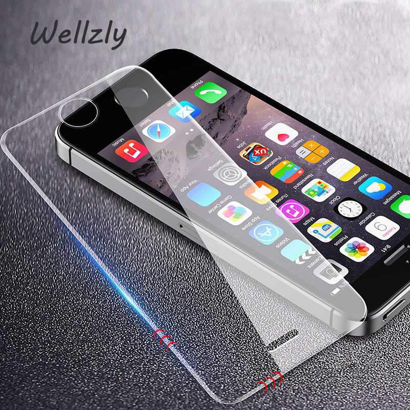 Wellzly 2.5D  Screen Protector Tempered Glass For iPhone X 8 7 6 6s Plus Protective Tempered Glass For iPhone X Xr Xs Xs Ma B33 Karachi