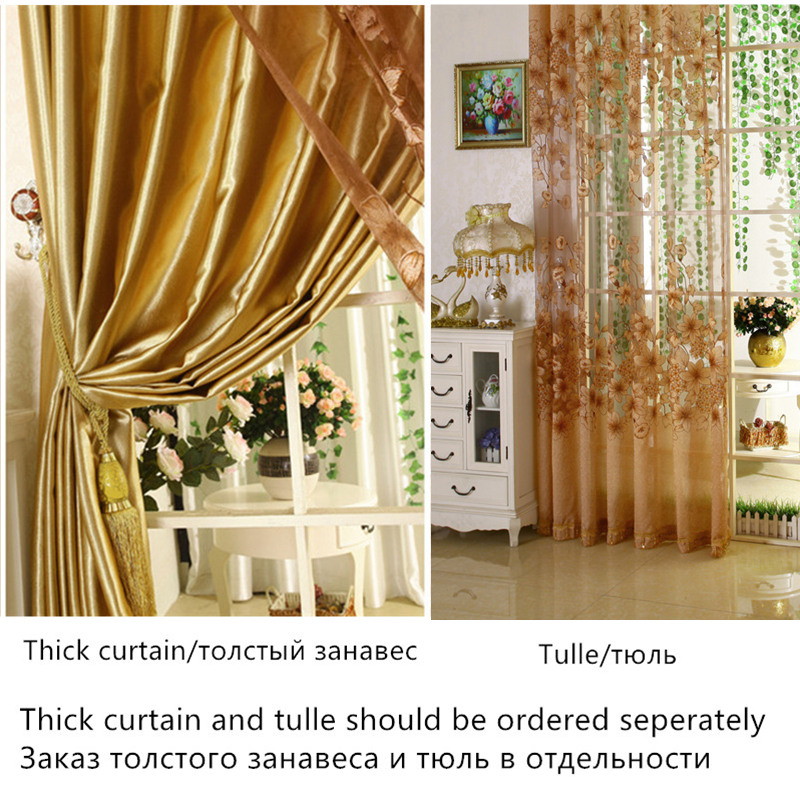 {byetee} Luxury Window Living Room Tulle Window Curtains Kitchen Window Curtains  Door Finished European Sheer Curtains In Curtains From Home U0026 Garden On ...