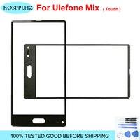 KOSPPLHZ siyah 5.5 inç Ulefone Mix dokunmatik ekran Digitizer cam Panel onarım parçası + araçları + yapıştırıcı