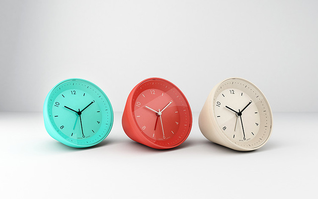 small desk clocks  Genuine smart lazy snooze alarm clock creative fashion simple small ...