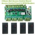 Los Usuarios WG2004 TCP/IP Cuatro 4 Puerta de Acceso Del Controlador 20 K 100 K Eventos + 4 UNID Wiegand26 RFID de 125 KHz Lector de IDENTIFICACIÓN