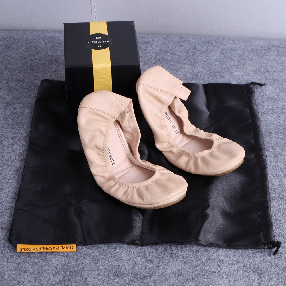 Plegable Embarazada Zapato Bailarina Marca Para Boda Moda Las Cuero Beige Plana Portátil La Mujeres Ballet De Y Viaje Nupcial UPqnRqwW
