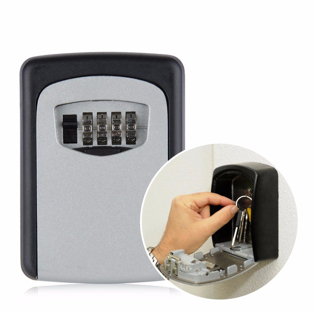Home Safety Durable Designed Storage Box Money Key Hider 4 Digit Security Secret Code Lock Can Be Use Indoor Outdoor