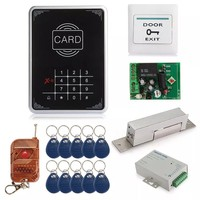 Door RFID Proimity Entry Touch Key Lock Access Control System Kit With Access controller+Power Supply+EM Lock+Remote+10 Keytags