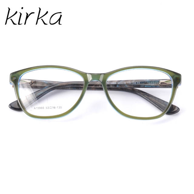 2bce1963e3 placeholder Kirka Fashion Women Acetate Eyeglasses Frames Men Brand Acetate  Eyeglasses Green Frame With Clear Glasses