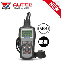 New AUTEL MaxiScan MS609 Car Code Reader Full OBD2 Functions Auto Diagnostic Scanner Tool OBDII ABS System Testing Tools