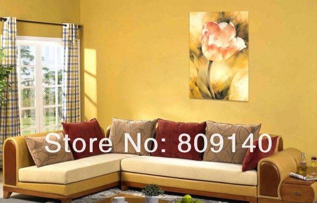 free shipping Realism Realist Flower oil painting on canvas high ...
