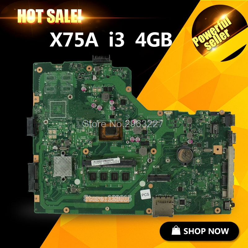 X75A Motherboard REV:3.1 i3 cpu For ASUS X75V X75VC X75VB X75VD X75VD1 R704V Laptop motherboard X75A Mainboard X75A Motherboard free shipping x75vd gt610m with 4g ram mainboard for asus r704v x75vd x75vb x75vc x75v motherboard rev 2 0 100