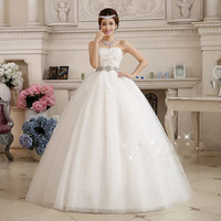 2019 Ball Gown Wedding Dress Tulle Bridal Gowns Corset Back Strapless Bow Full Length Vestidos De Novia Plus Size Custom Made