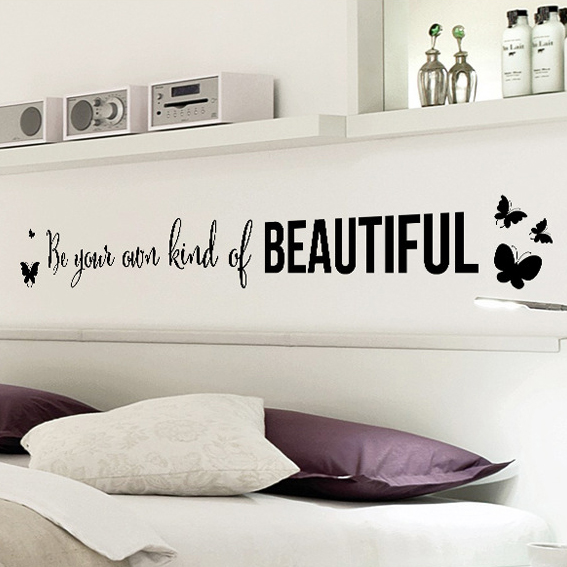 Living Room Sayings aliexpress : buy be your own kind of beautiful vinyl wall