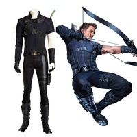 New Captain America 3 Hawkeye Cosplay Costume Outfits Avengers Superhero Halloween Cosplay Costumes for Women/Men S XXXL