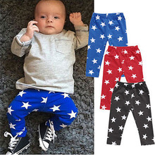 Autumn Children Baby Pants Infant Kids Baby Boys Girls Bottom Pants Leggings Harem FIve Point Star Pentagon Pants baby Trousers