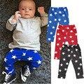 Otoño de Los Niños Pantalones Del Bebé Infantiles Niños Muchachas de Los Bebés Abajo Pantalones Leggings bebé Pantalones Harén Cinco Puntos Estrella Pentágono