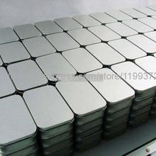 100 шт. Олова контейнер для хранения металла прямоугольник для бисера визитная карточка конфеты трав чехол 9,4 см x 5,9 см x 2,1 см Щепка