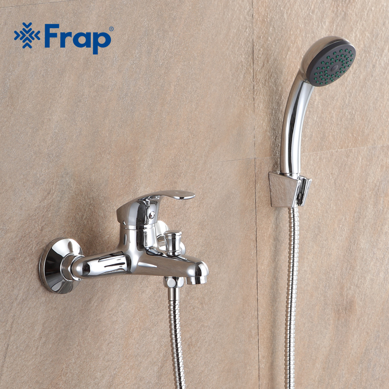 Frap Classic Bathroom Shower Faucet Bath Faucet Mixer Tap With Hand Shower Head Set Wall Mounted  F3036 F3037 F3013 F3015