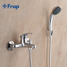 Frap clássico banheiro torneira do chuveiro torneira da banheira misturadora com chuveiro de mão conjunto fixado na parede f3036 f3037 f3013 f3015