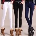 Otoño e invierno las mujeres de terciopelo leggings outwear gran tamaño lápiz pantalones botas pantalones pantalones pies calientes de la muchacha pantalones flacos térmicas