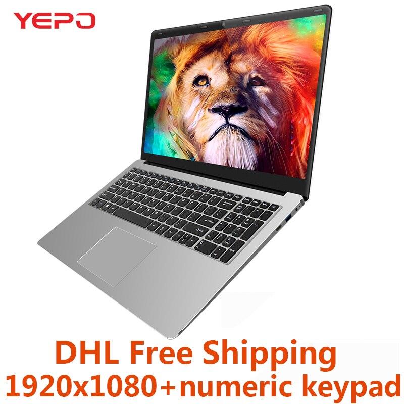 YEPO 15.6 ''Ordinateur Portable 6 gb RAM 64 gb mem 1000 gb HDD 256 gb SSD Quad Core Ultra- mince Ordinateur Portable Avec LED FHD Affichage Ultrabook