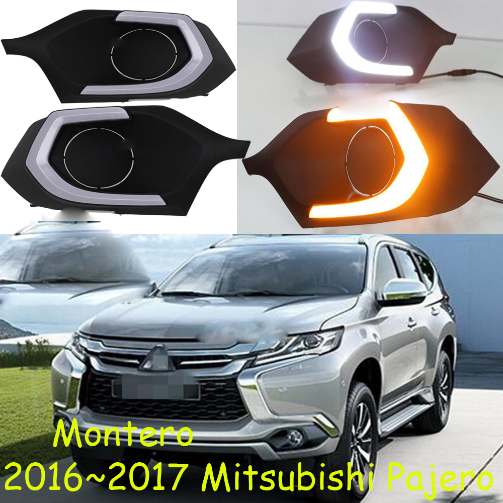 Montero,LED,2016~2018 Mitsubishe Pajero daytime Light,Pajero fog light,Pajero headlight,Endeavor,ASX,3000GT,Expo,Eclipse,verada hid 2001 2004 car styling outlander headlight endeavor asx expo eclipse verada pajero triton outlander head lamp