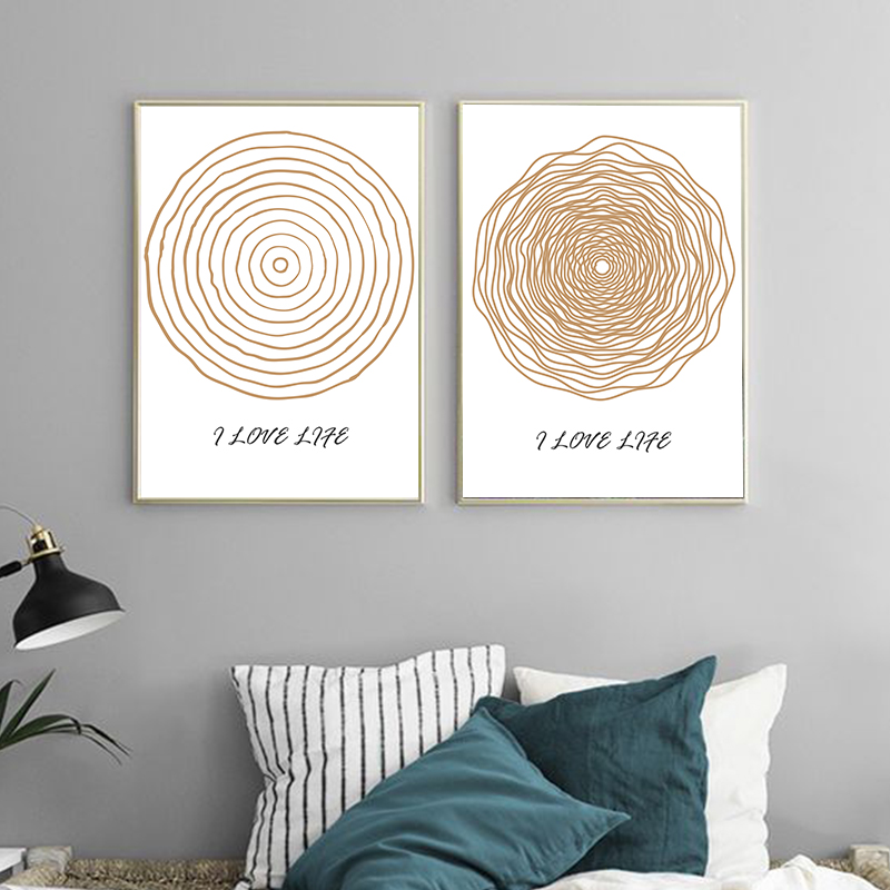 Line type picture art print canvas painting wall pictures - What type of paint for living room walls ...