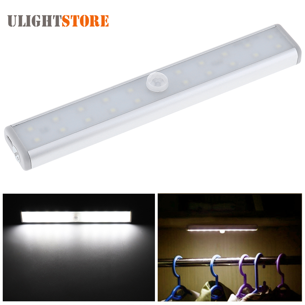 Bright LED USB Rechargeable Cabinet Night Light with IR Infrared Motion Detector