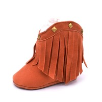 Cowboy Boots For Girls With Studs Baby First Walkers Baby Shoes Fashion Snow Boots For Kids