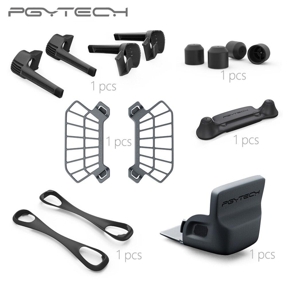 PGYTECH Combo Sale 6pcs set Landing Gear Risers Control Stick Protector Hand Guard Motor Protective Cap