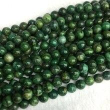 Natural genuino África verde Jade redondo joyas bola suelta perlas 4-12mm  15