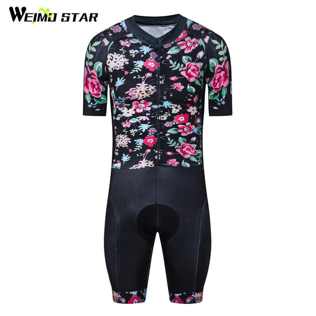 7fb852d6f Cheap Weimostar Short Sleeve triathlon Cycling Jersey One-piece Cycling  Clothing Compression 4D Gel Padded