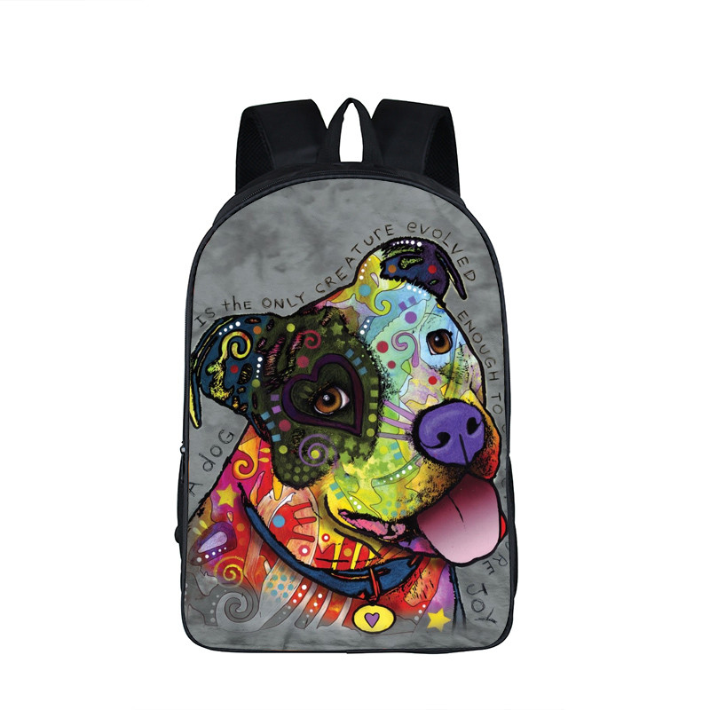 Cute Dog Pit Bull Terrier Backpack Animal Pet Print Children School Bags Women Men Casual Daypack Cat Teenager School Backpack portable clinic clinical pet animal dog and cat refractometer rhc 300 atc blood protein serum urine plasma