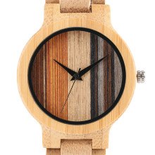 Fashion Wooden Watch Male 2017 European Style Dial Luxury Wood Strap Quartz Wristwatch Japanese movement Bamboo Men's Clock
