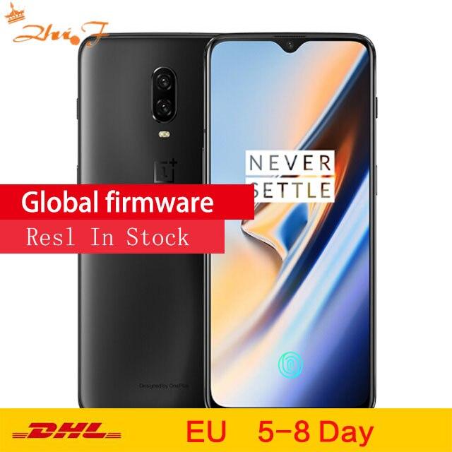 Oneplus 6 T téléphone portable 8 GB RAM 128/256 GB ROM Snapdragon 845 Octa base 6.41 Double Caméra écran Déverrouiller Téléphone Mobile NFC
