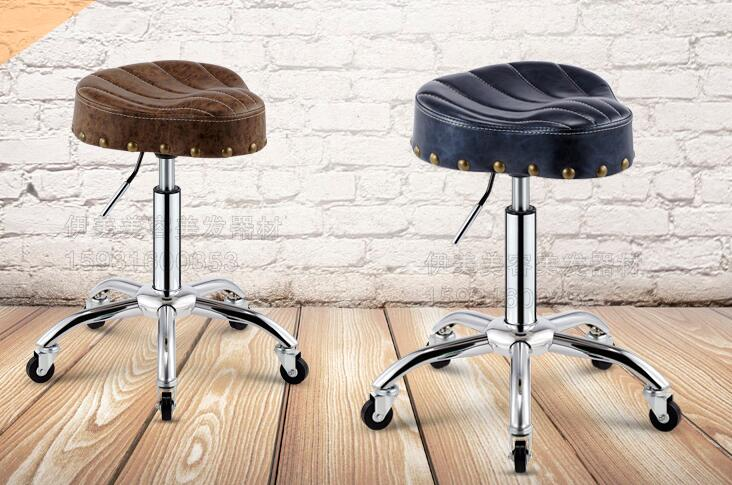 New style saddle chair. Barber shop hairdressing chair. Beauty stool lift explosion-proof tattoo technician chair.. barber chair swivel chair can put down can lift hairdressing chair the haircut chair beauty bed t 4106