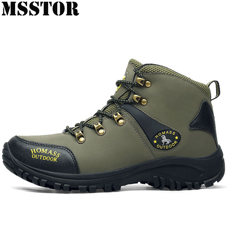 MSSTOR Men Hiking Shoes Man Brand Hunting Trekking Hiking Boots Waterproof Shoes Outdoor Athletic Walking Camping Mens Sneakers mulinsen winter2017 ankle boots hiking shoes for men hunting trekking men s sneakers breathable outdoor athletic sports brand