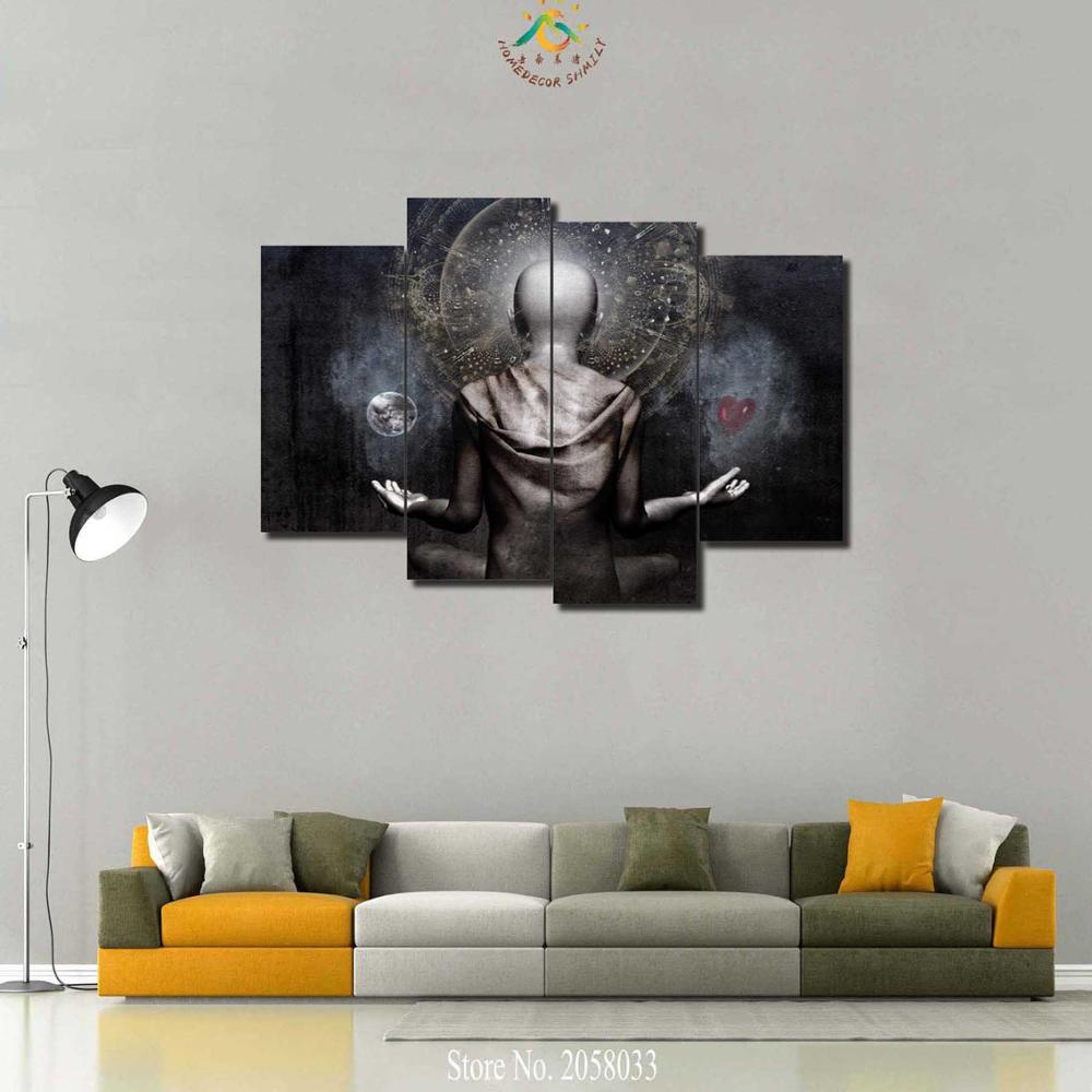 Aliexpress buy 3 4 5 pieces spiritual religious god modern aliexpress buy 3 4 5 pieces spiritual religious god modern home decor wall art canvas hd painting for living room print modern painting from reliable amipublicfo Images