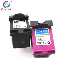 hp officejet ColoInk 2Pack For HP 901XL 901 Ink Cartridge Remanufactured  for HP Officejet 4500 J4500 J4540 J4550 J4580 J4640 J4680c printers (2)