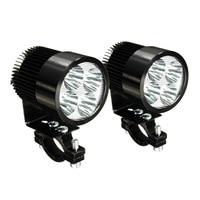 2X Universal Motorcycle Motorbike Osram LED Front Spot Light Headlight Lamp 12 24V