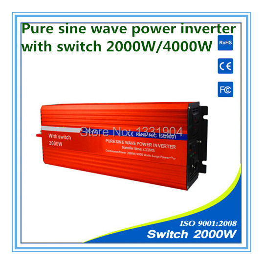 2000W pure sine wave inverter DC24V to AC220V  inverter,solar power inverter with auto transfer switch,car inverter цена и фото